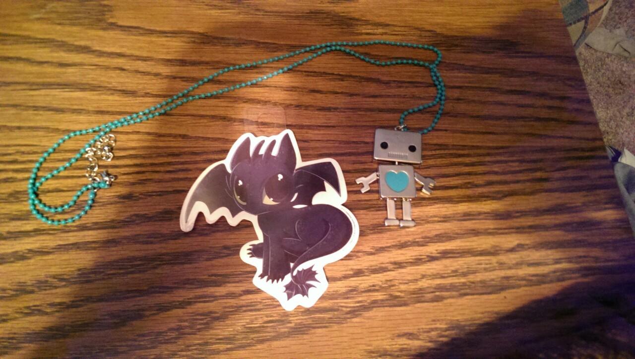 Necklace & sticker