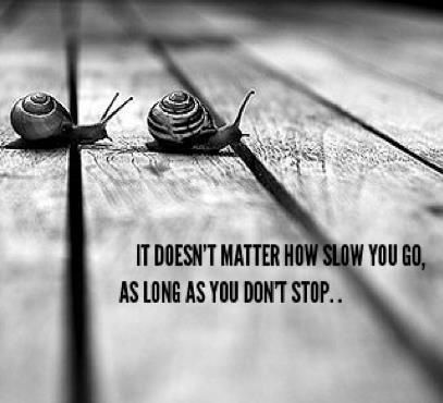 It doesn't matter how slow you go, as long as you do not stop