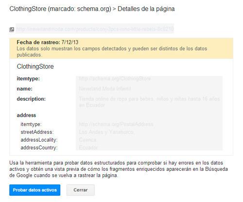Revisar los fragmentos enriquecidos en las herramientas para webmaster de Google