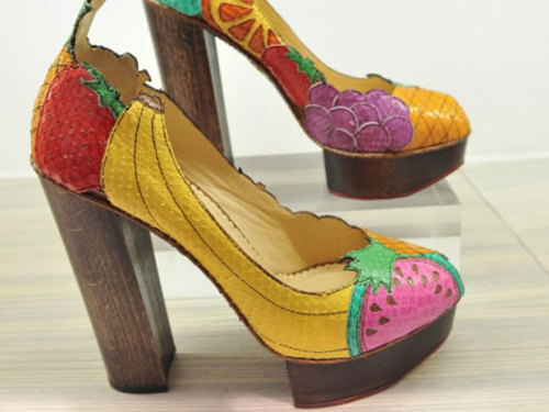 Charlotte Olympia Fruit Salad Pumps