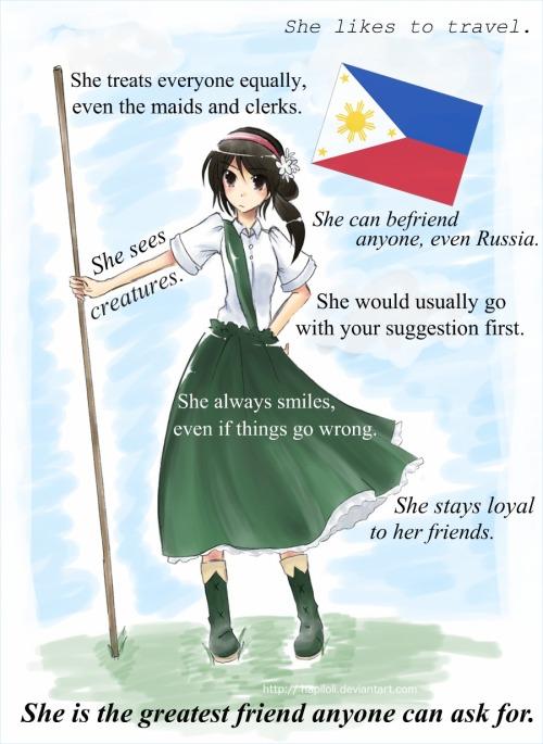 Yelling America Hetalia Philippines
