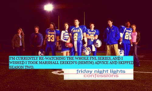 Friday Night Lights Confession