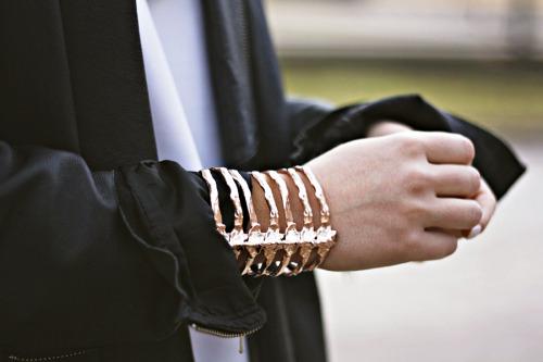 Skeleton cuff bracelet
