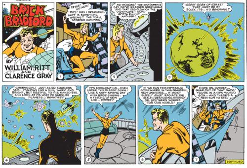 """Brick Bradford"" comic, William Ritt and Clarency Gray, 1950."