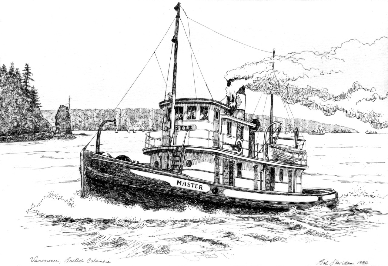 Illustrated Vancouver The Master By Bob Sheridan From