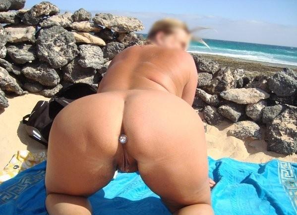 Butt plug nude beach