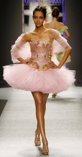 Georges Chakra 'ballerina' dress (via Tutus ♥)