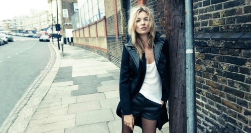 Kate Moss photographed by Craig McDean for Rag & Bone (Fall/Winter 2012 campaign).