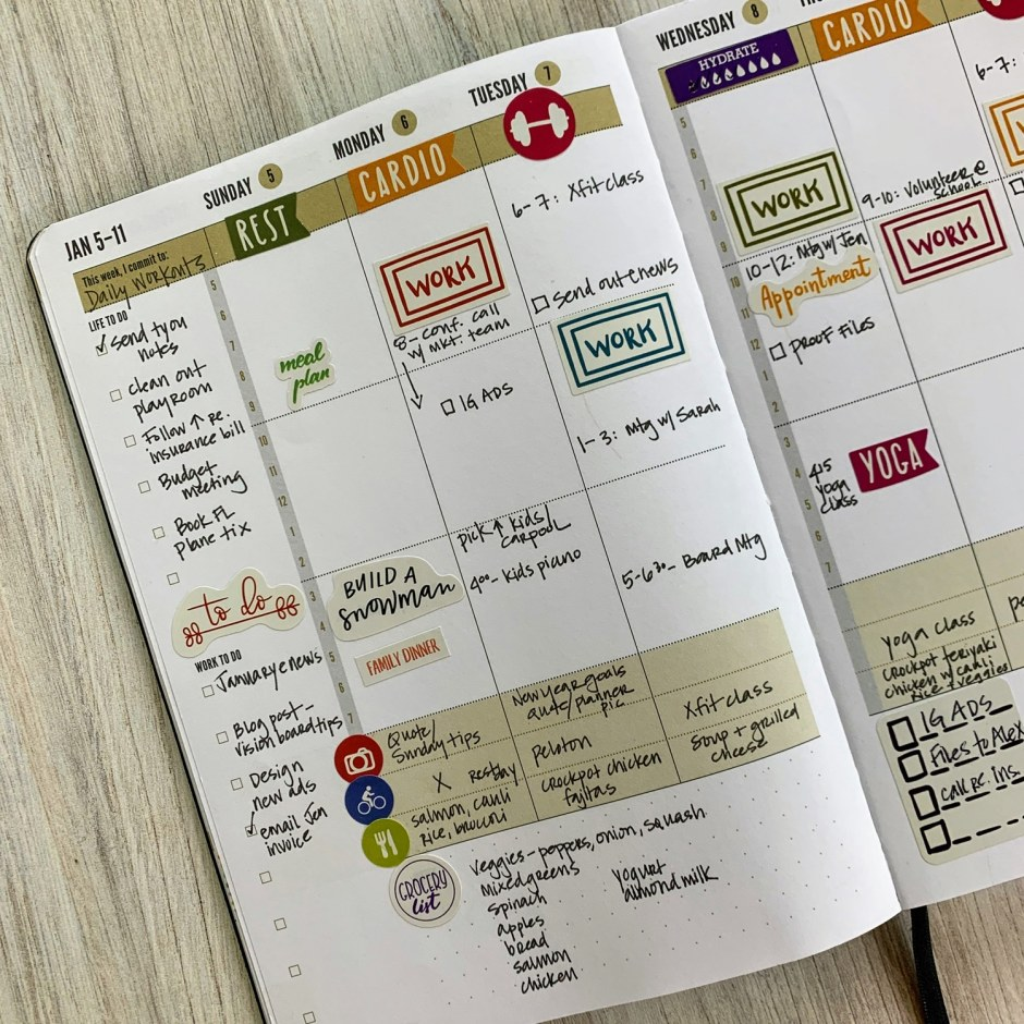annual weekly Day Planner inside