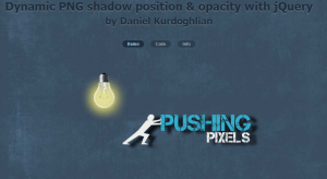 Dynamic PNG shadow position & opacity with jQuery - by Daniel Kurdoghlian - PushingPixels.at