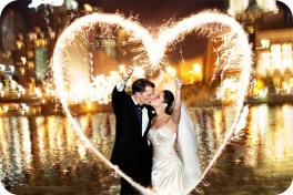 Wedding Sparkler Heart