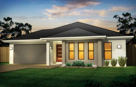 4 Bedroom House Design  225sqm   250sqm 4 Bedroom Floor Plan MAGNETIC 1A Family House Design Townsville Builders