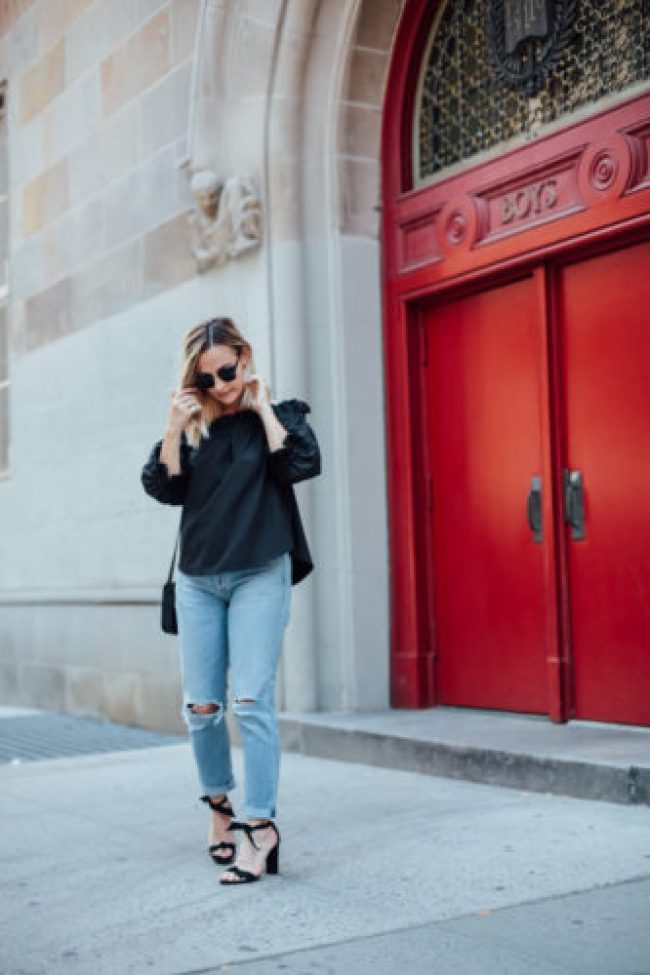 Black off the Shoulder Top | Charmed by Camille