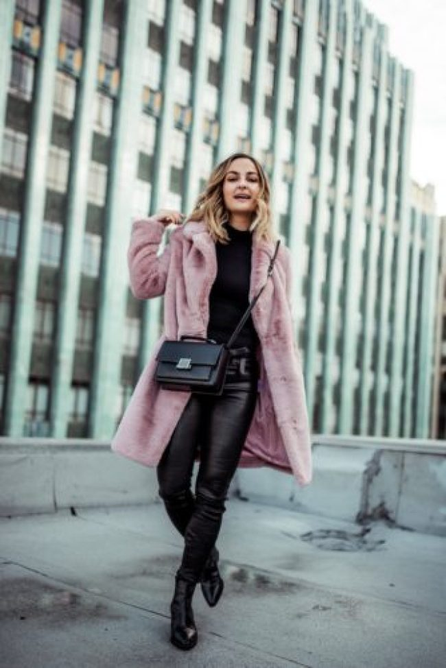 Pink Fur Coat   Charmed by Camille