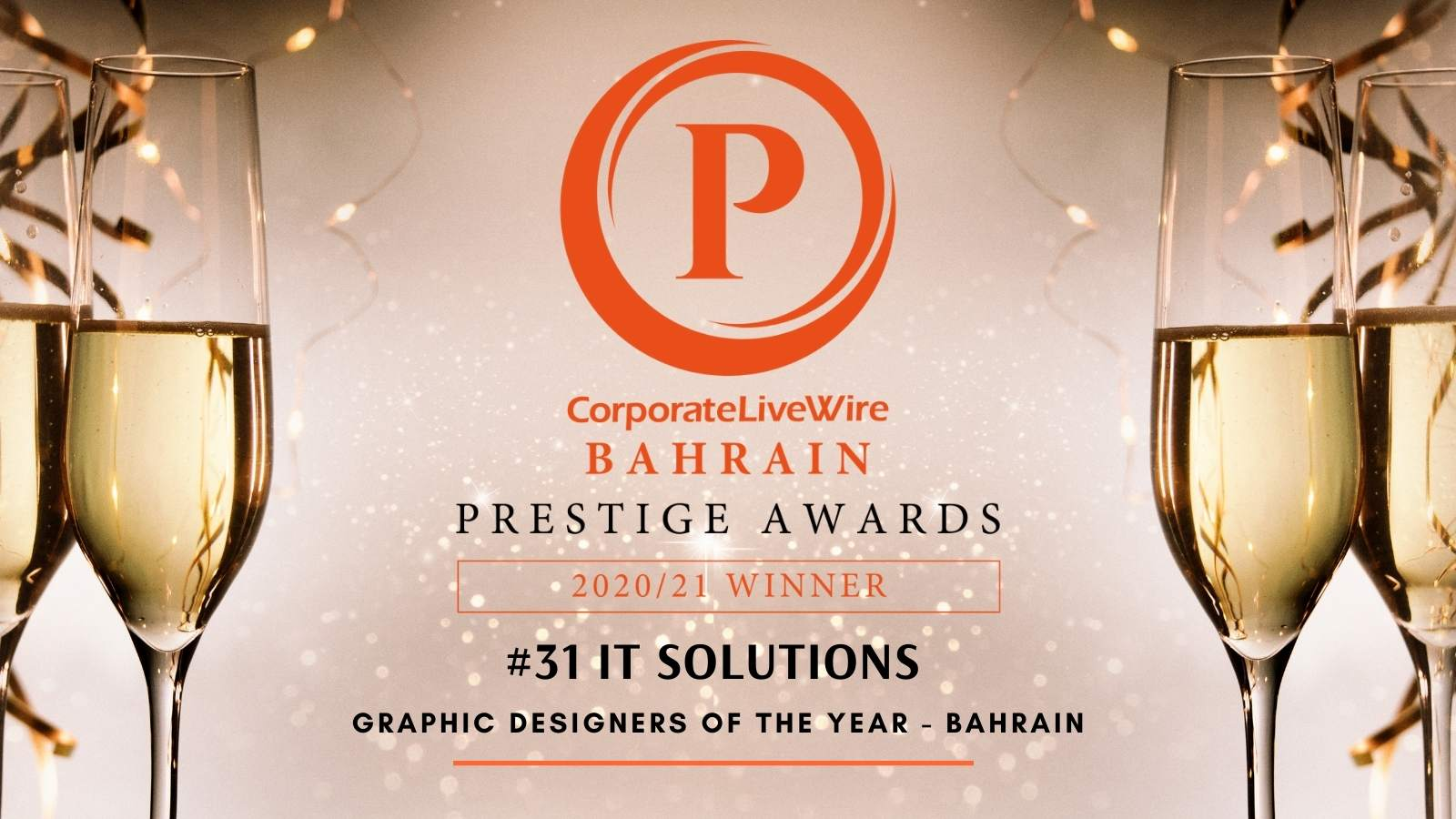 CorporateLiveWire Bahrain Prestigious Awards 2020/21 in the Category; Graphic Designer of the year - Bahrain.