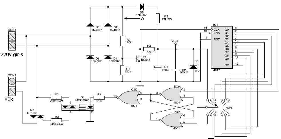 Isolated Gradual Dimmer Circuit