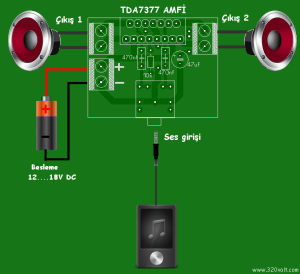 TDA7377 Amplifier Circuit (12V Stereo 30W)  Electronics