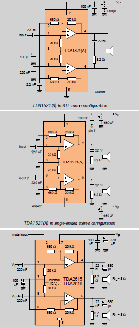 TDA Series Audio Amplifier Book  Electronics Projects Circuits