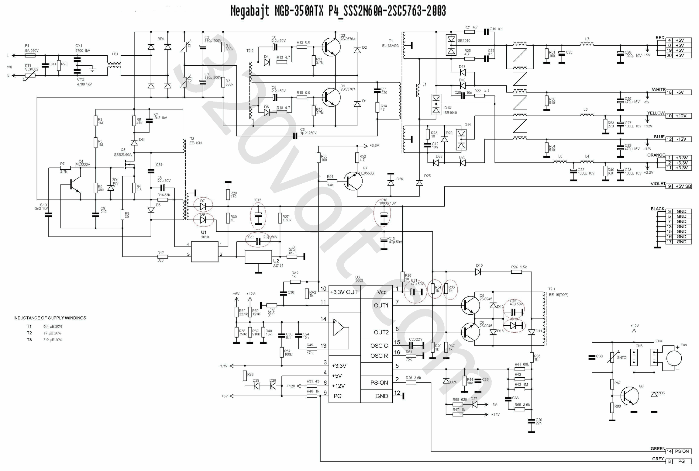 atx motherboard schematic diagram
