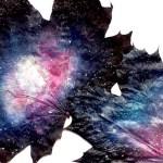 Galaktyka malowana na liściach – kosmiczne DIY