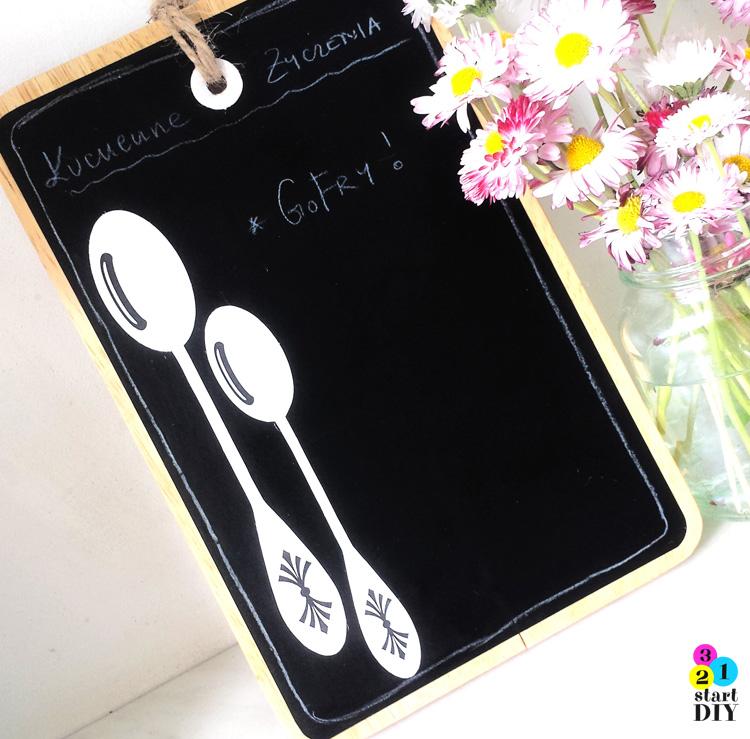 tablica na zapiski do kuchni
