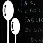 Tablica na zapiski z deski do krojenia + szablon do pobrania
