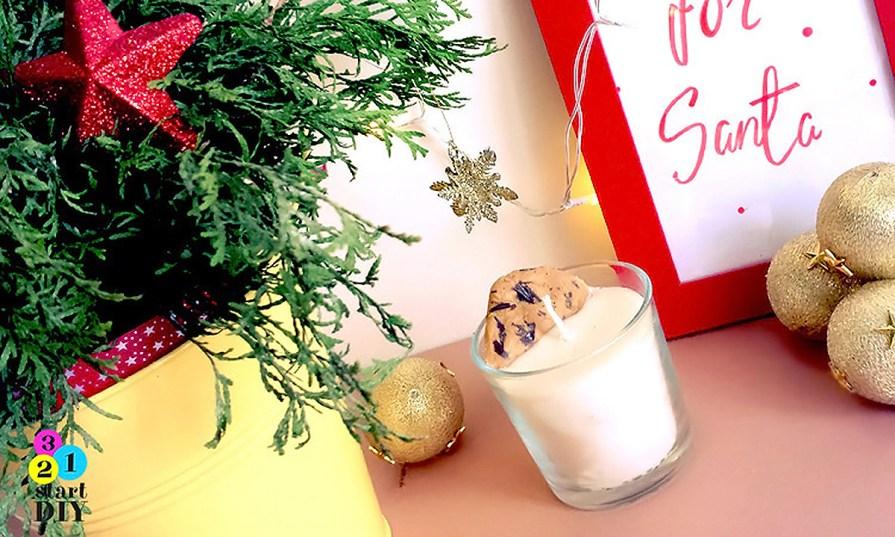 świąteczna świeca diy
