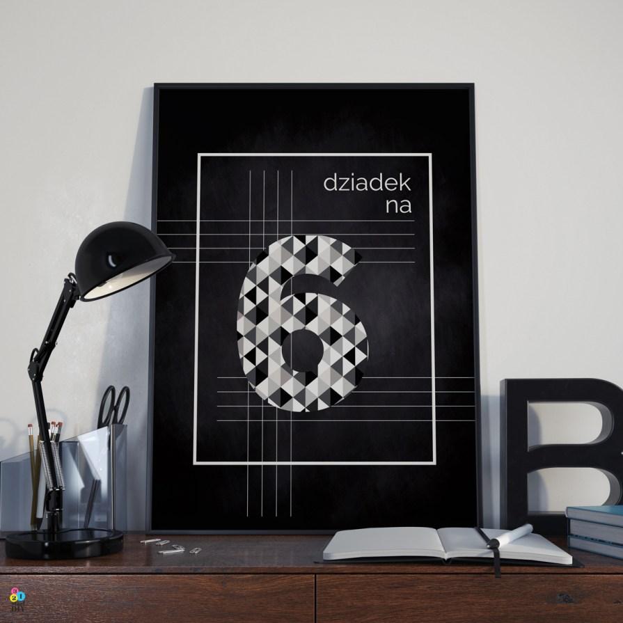 Prezent na Dzień Dziadka - plakat do druku