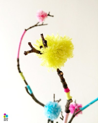dekoracja z gałęzi