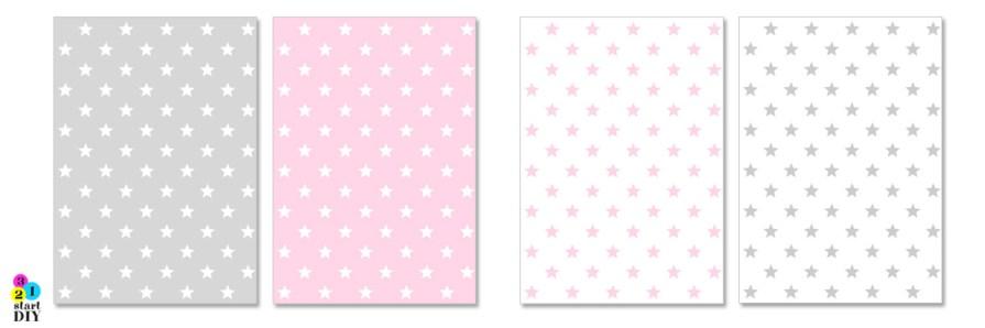 papier ozdobny do druku - gfariki dla dzieci - gwiazdy