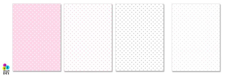 papier ozdobny do druku - gfariki dla dzieci - kropki