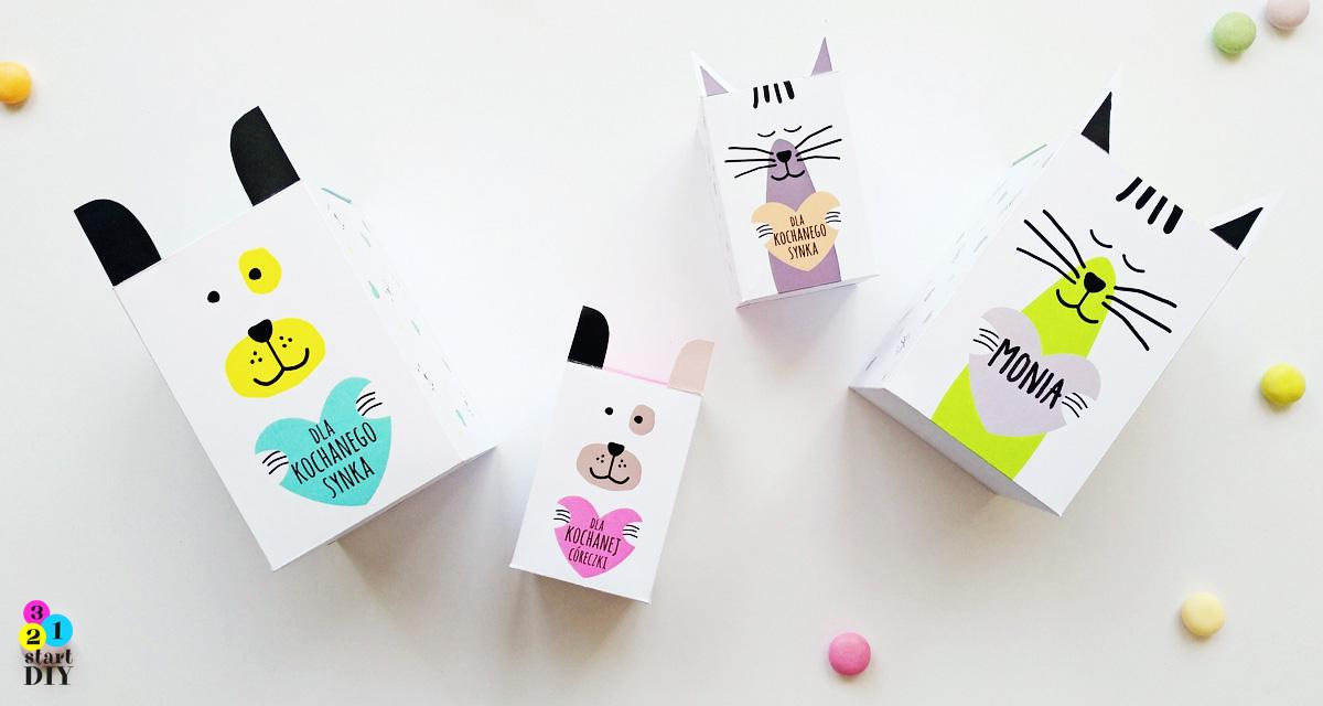 Pudełeczka na prezenty i słodycze dla dzieci – do wydruku