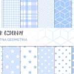Papier ozdobny do druku #3 – błękitna geometria
