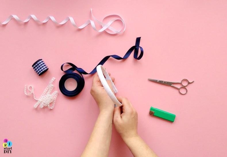 321startDIY-Ozdobna opaska do włosów DIY