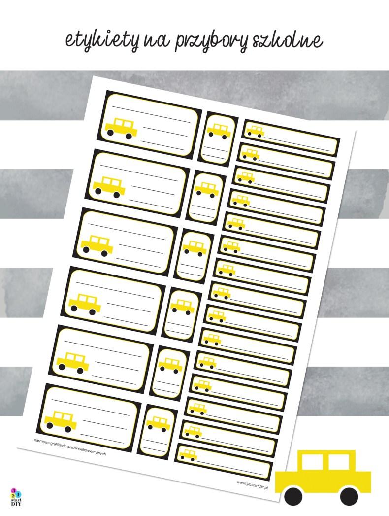 etykiety do druku na przybory szkolne