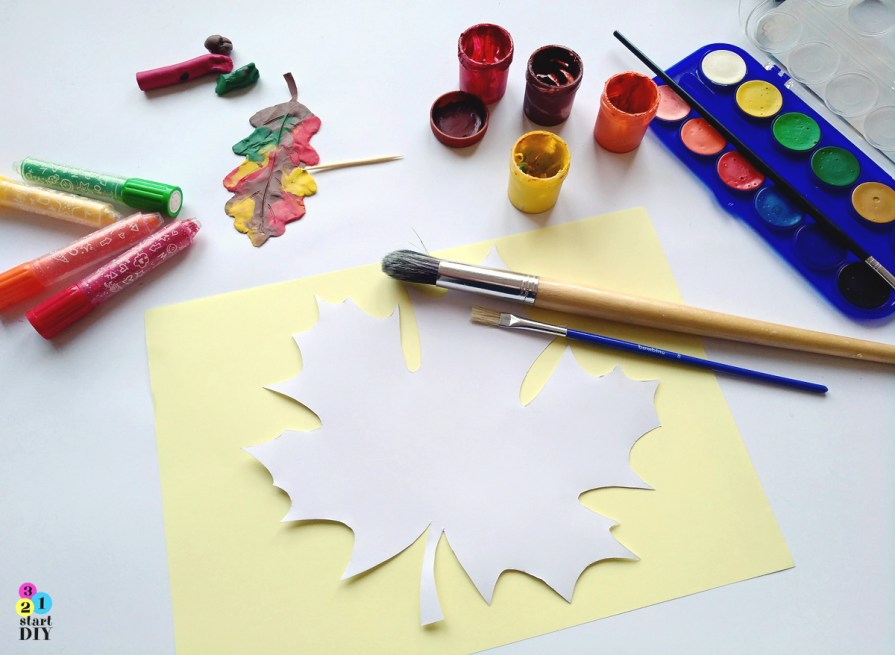 Szablony liści do wydruku, papier dekoracyjny