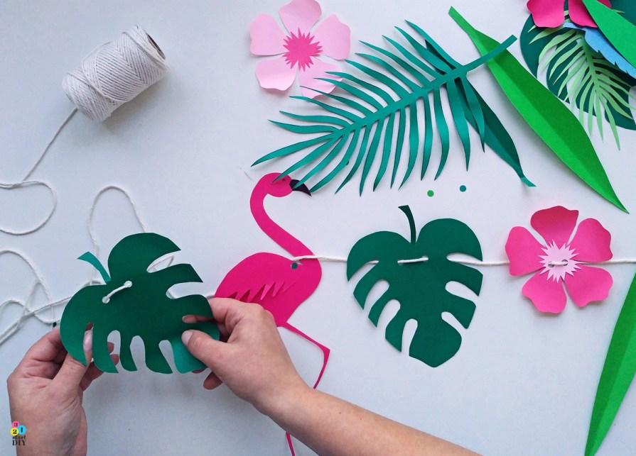 tropikalne szablony do wycinania - tropikalna girlanda