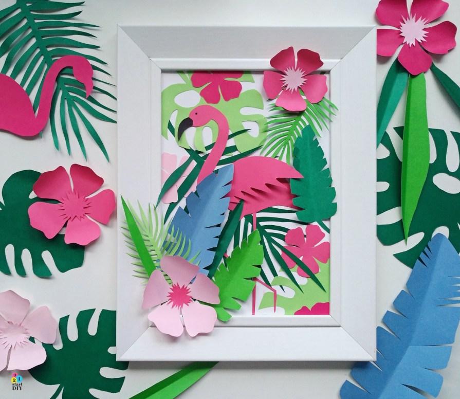 tropikalne szablony do wycinania - obrazek 3d