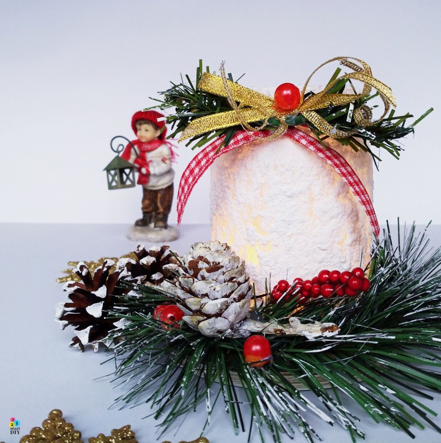 co zrobić ze słoika; lampion świąteczny
