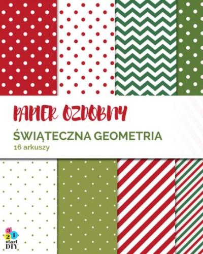 papier śiąteczny geometria