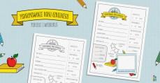 Podsumowanie roku szkolnego - formularz dla dzieci do druku