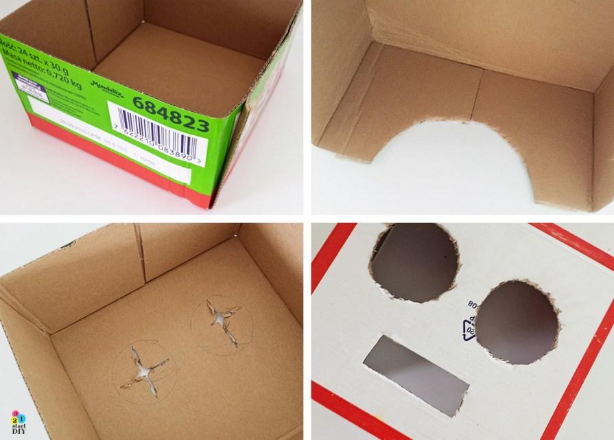 Maska dla dzieci - robot z recyklingu