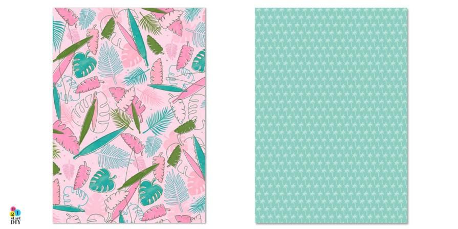 Papier ozdobny do druku - tropikalne wzory