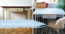 Odnawianie starych mebli - stół kuchenny z PRL-u