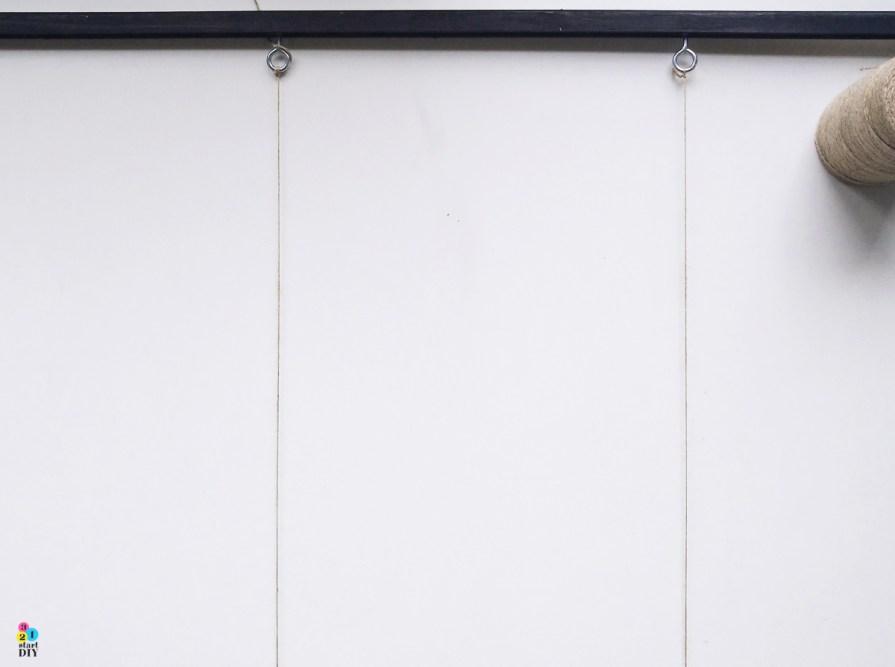 Ramka ze sznurkami czyli ostatnie wcielenie tablicy korkowej