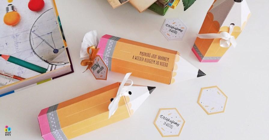 pudełka ołówki dla nauczycieli i dla ucznia