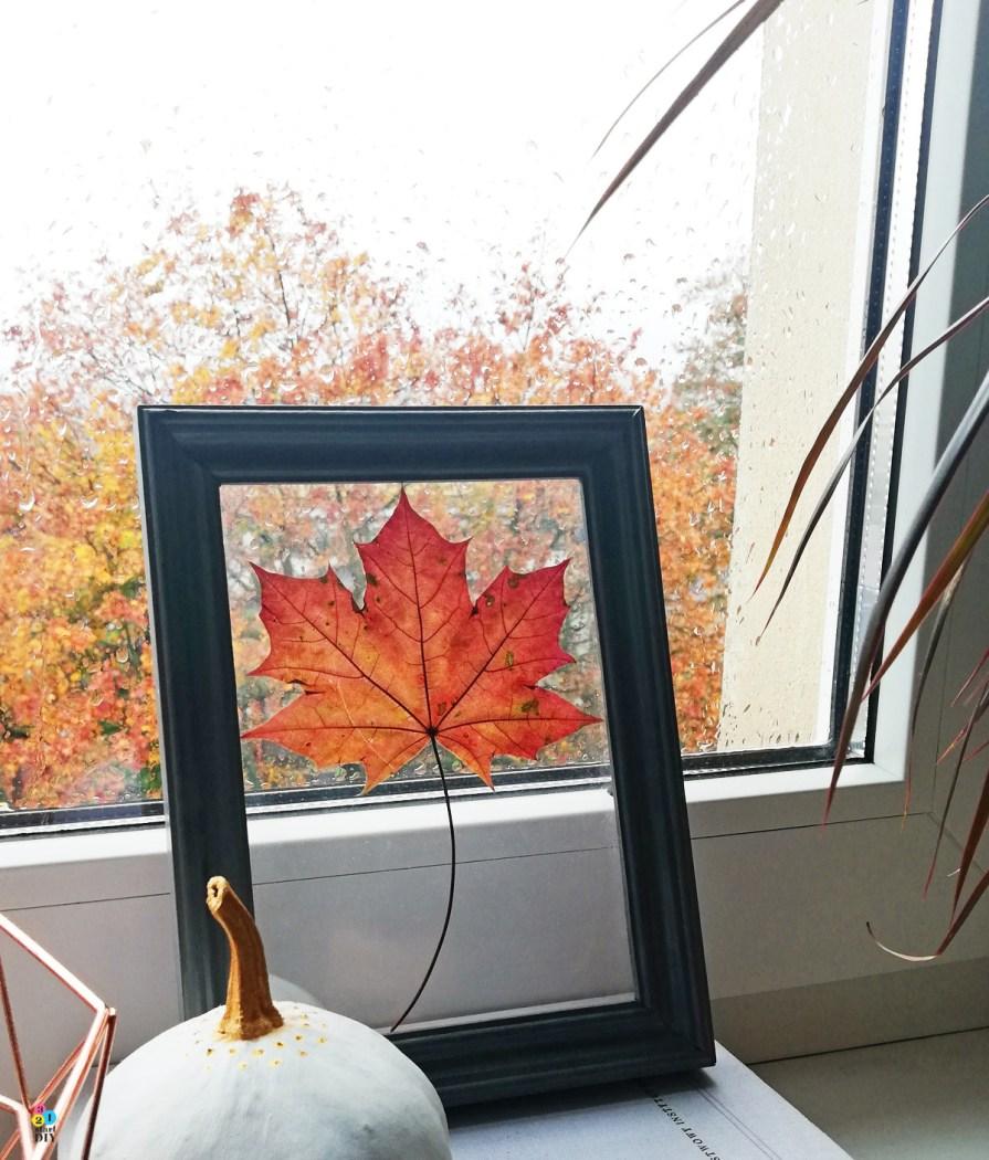 jesienne dekoracje diy - jesienny obrazek
