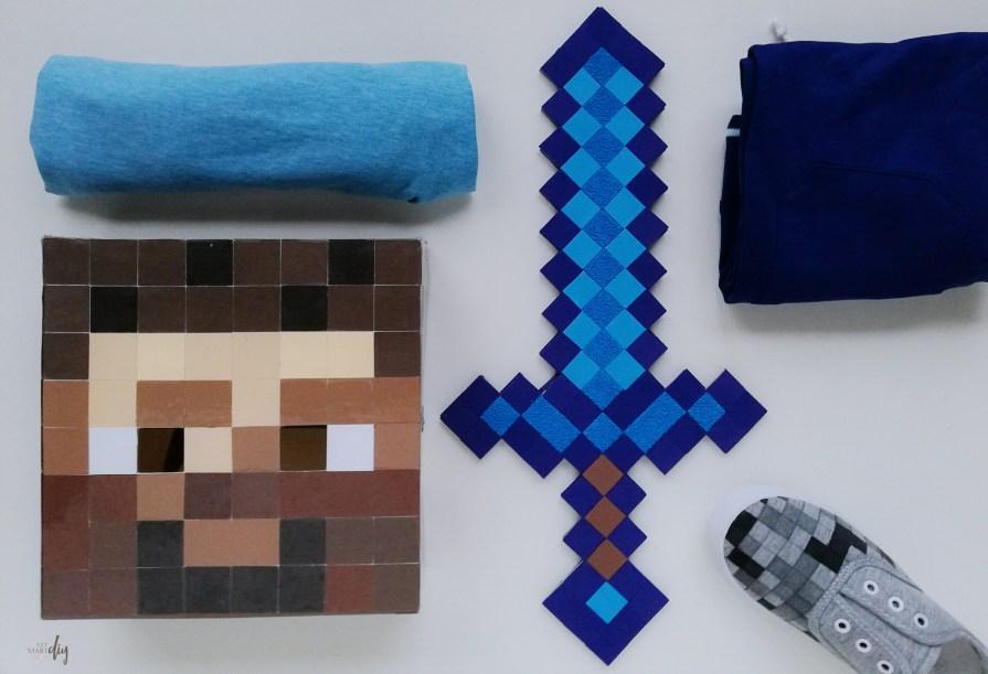 Strój Minecraft Steve diy