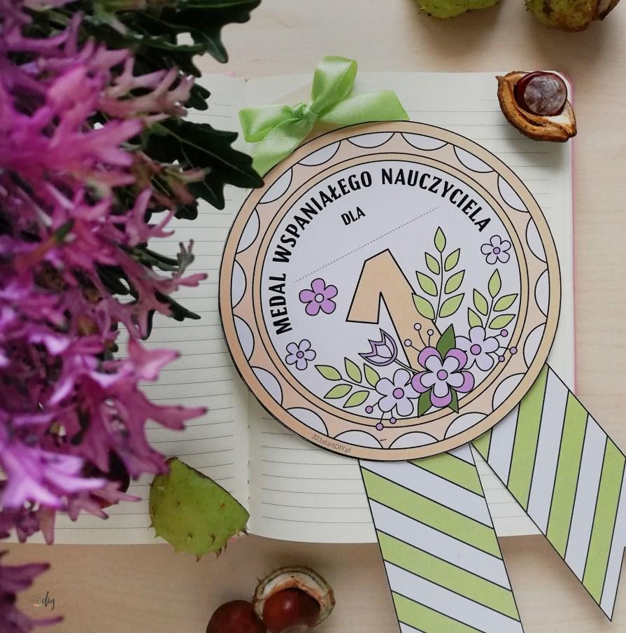 Medal dla nauczyciela darmowa grafika do druku