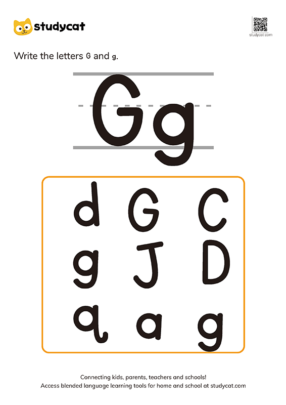 Letter Gg Writing Worksheets